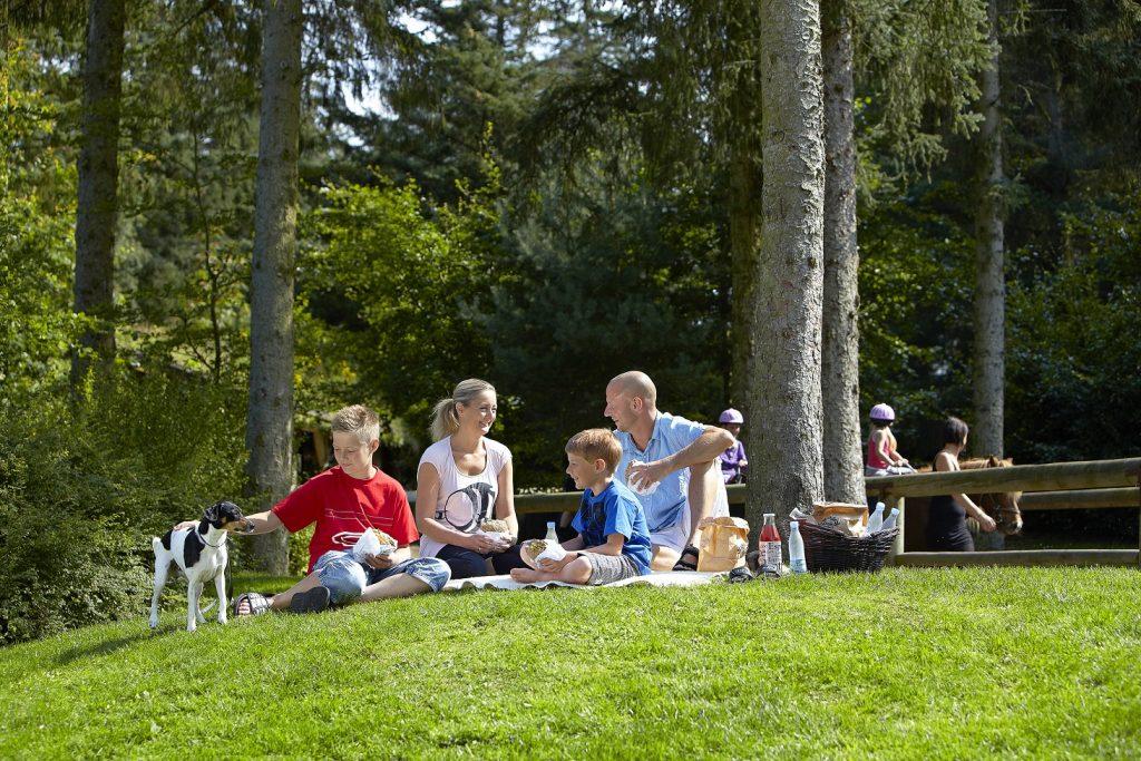 Piknik med familien går fint an å få til i Fårup Sommerland. Foto: Fårup Sommerland