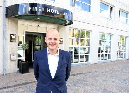 Har greie på Aalborg: Morten Christiansen er direktør på First Hotel Aalborg og vet det meste om byen ved Limfjorden.